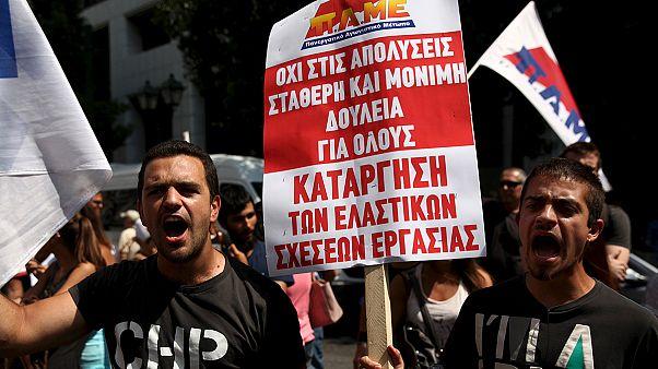 Greece: Anti-austerity protesters denounce 'ever-closer' bailout deal