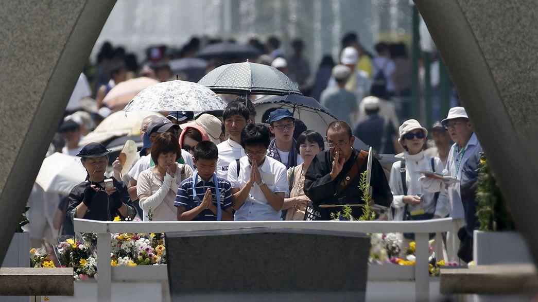 A 70 anni da Hiroshima il Giappone ricorda in presenza di un rappresentante Usa