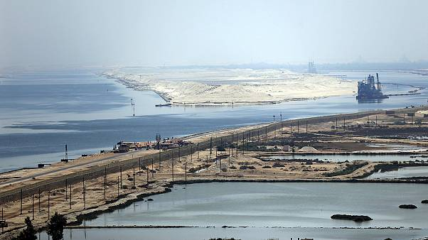 Egyptian president unveils pet Suez Canal project