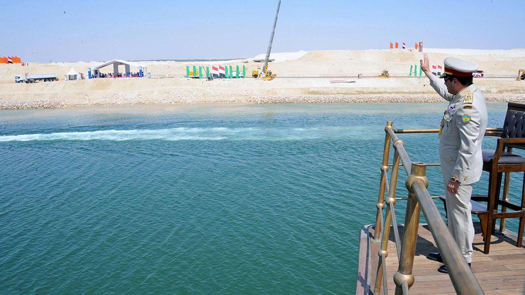 Mısır'da yeni Süveyş Kanalı'na görkemli açılış