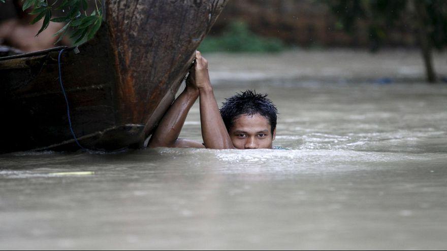 Myanmar under water