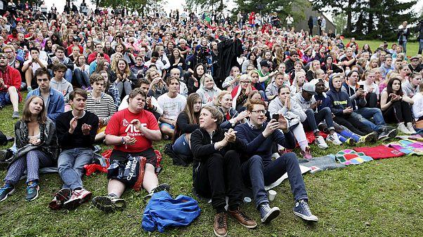 عودة المخيم الصيفي لشبيبة حزب العمال النرويجي في جزيرة أوتويا