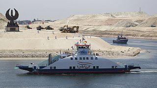 La ampliación del canal de Suez según las televisiones europeas