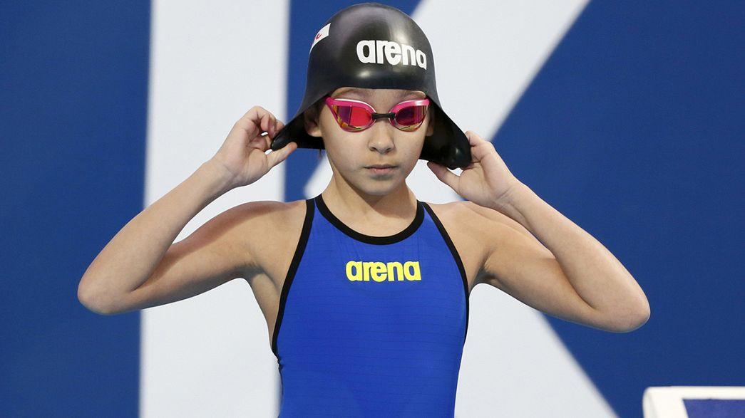 Con tan solo 10 años participa en los Mundiales de natación