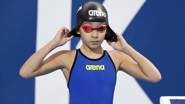 دختر ده ساله بحرینی، جوانترین شناگر تاریخ که در مسابقات قهرمانی جهان شرکت کرد