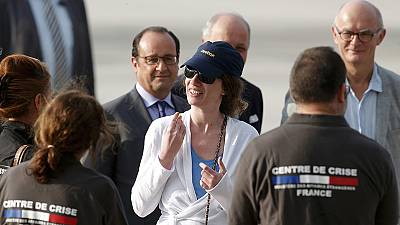 Freigelassene Französin zurück in ihrer Heimat