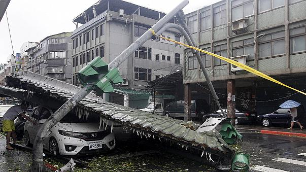 Deadly typhoon unleashes mudslides and flooding in Taiwan