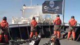 Activistas condenados por denunciar la pesca de ballenas en Dinamarca