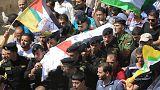 Óriási tömeg kísérte utolsó útjára a megégett palesztin apát
