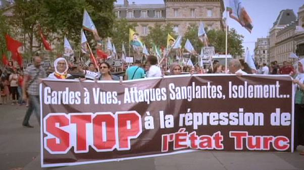 Демонстрации курдов в Европе