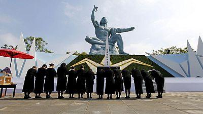 70 Jahre danach: Japan gedenkt Opfer des Atombombenabwurfs auf Nagasaki
