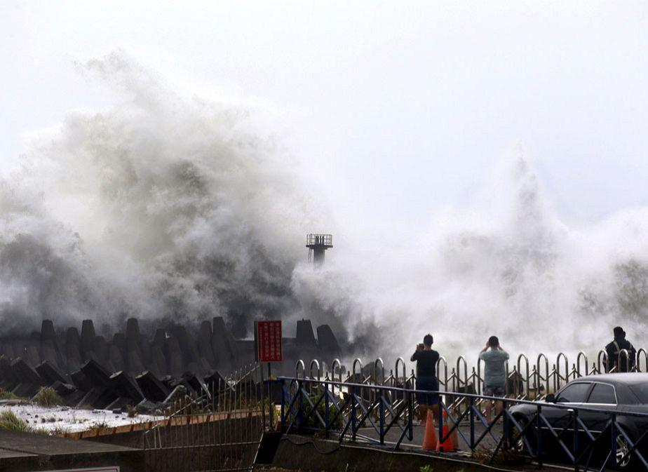 Taiwan sous les vagues