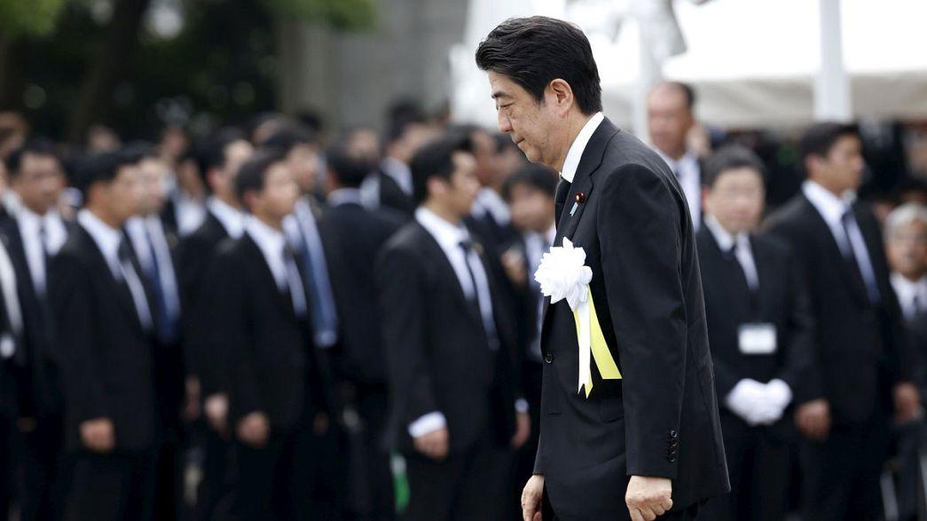 Japan gedenkt der Opfer des Atombombenabwurfs auf Nagasaki vor 70 Jahren