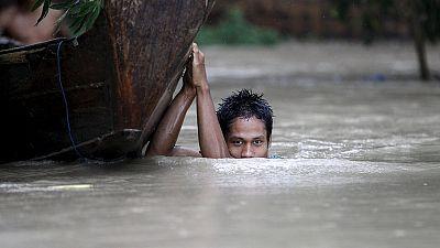 Cheias já mataram 99 pessoas em Myanmar