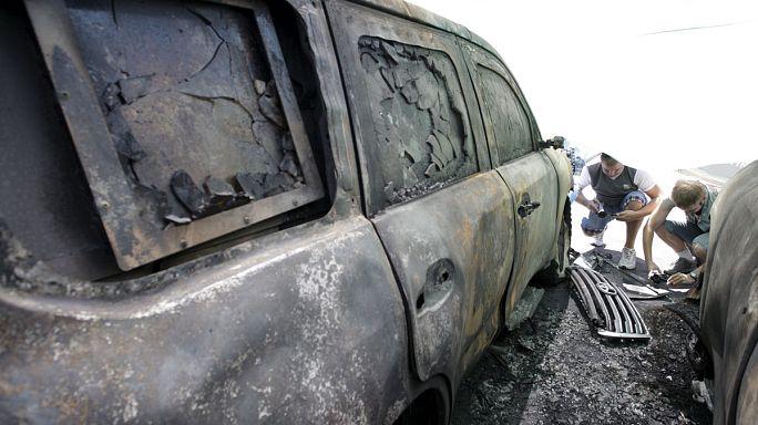 В Донецке неизвестные подожгли автомобили ОБСЕ