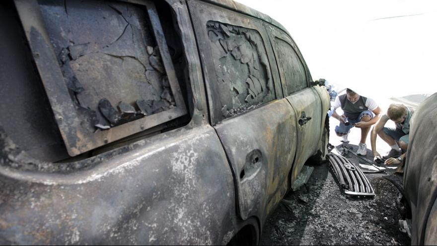OSCE monitoring mission vehicles torched in eastern Ukraine