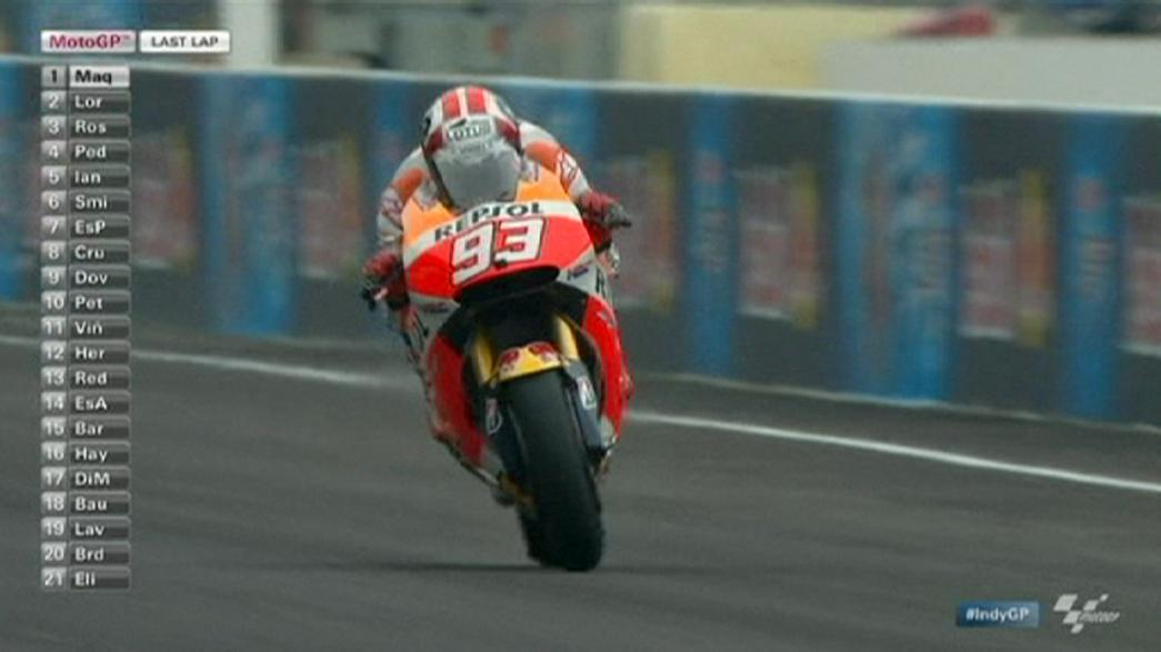 Marquez triumphs in Indianapolis