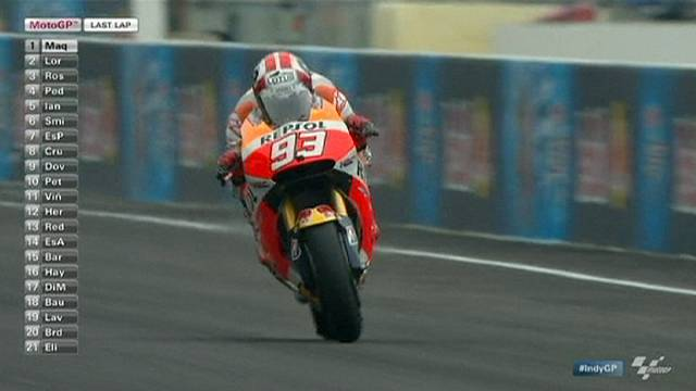 مارك ماركيز يفوز بسباق الجائزة الكبرى للدراجات النارية في انديانابوليس