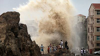 Unwetter in China und Taiwan