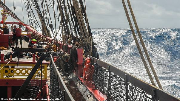 Hermione returns from historic voyage after making history of its own