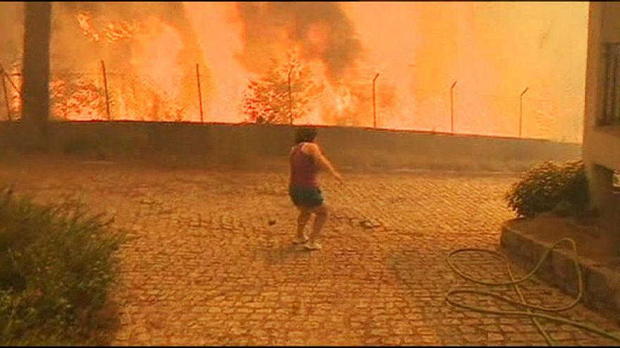 A hőhullám táplálja a portugál erdőtüzeket