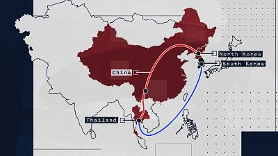 North Korean defectors often take a circuitous route into China and Southeast Asia before landing in South Korea.
