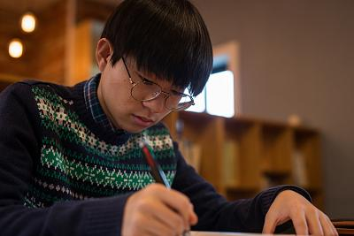 Park Kwon, 16, studies in Seoul, South Korea, in February 2018.