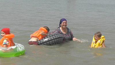 """Grozny estrena su playa """"islámica"""" solo para mujeres"""