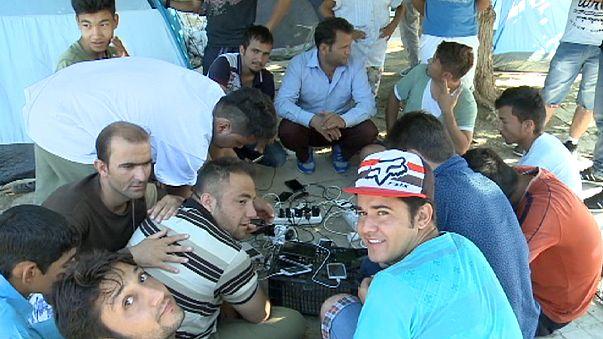 Лагерь беженцев в афинском парке