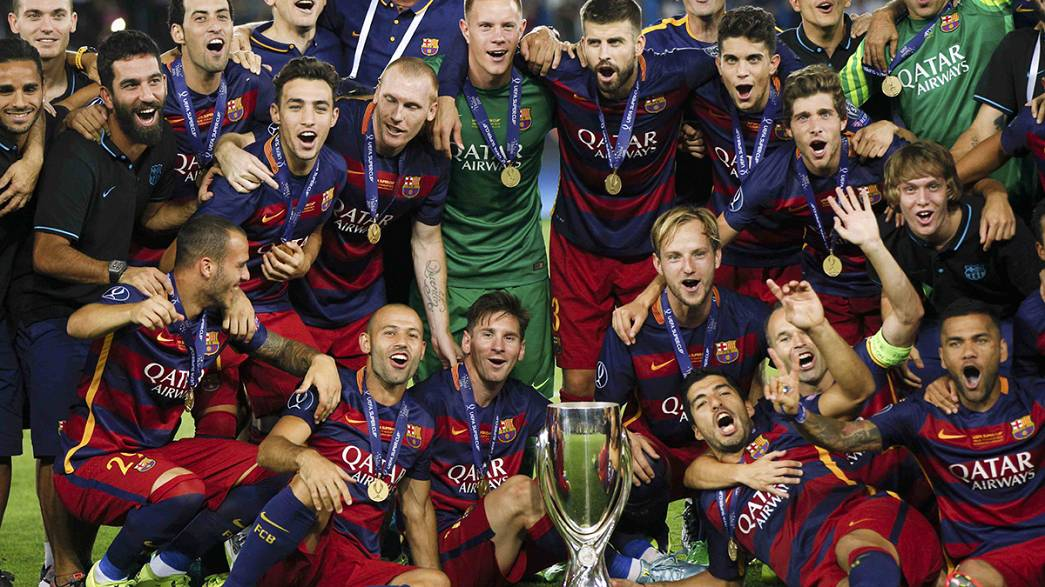 Barcelona beat Sevilla in nine-goal thriller to lift UEFA Super Cup