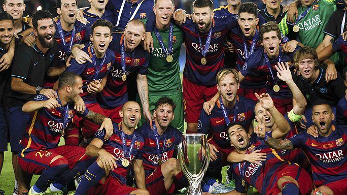 برشلونة تتوج بكأس السوبر الأوروبي 2015