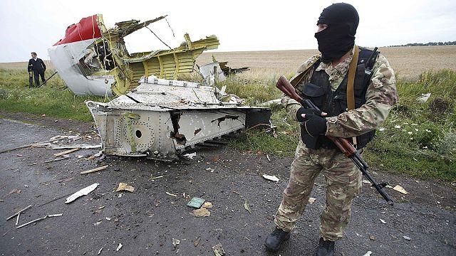 شضايا قد تكون لصاروخ بوك عثر عليها في مكان تحطم الطائرة أم أيتش 17