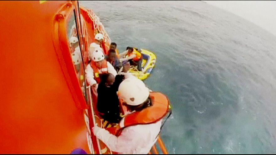 Rescate de inmigrantes en España