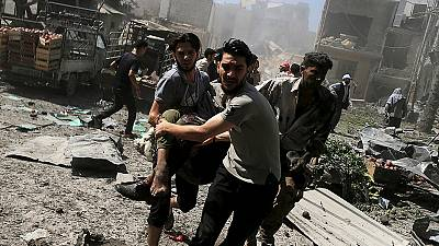 '31 dead in Syrian government air strikes' close to Damascus