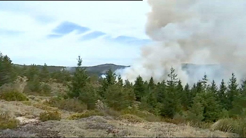 El incendio en el Parque Natural portugués de Serra da Estrela ya ha arrasado 800 hectáreas