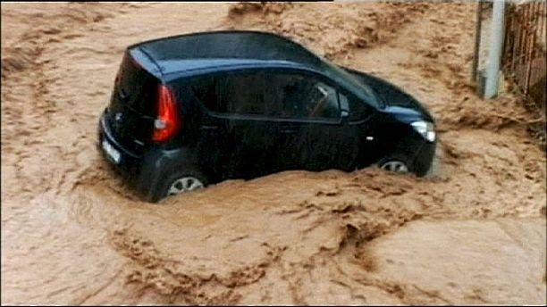 Heavy floods hit Italian coastal region