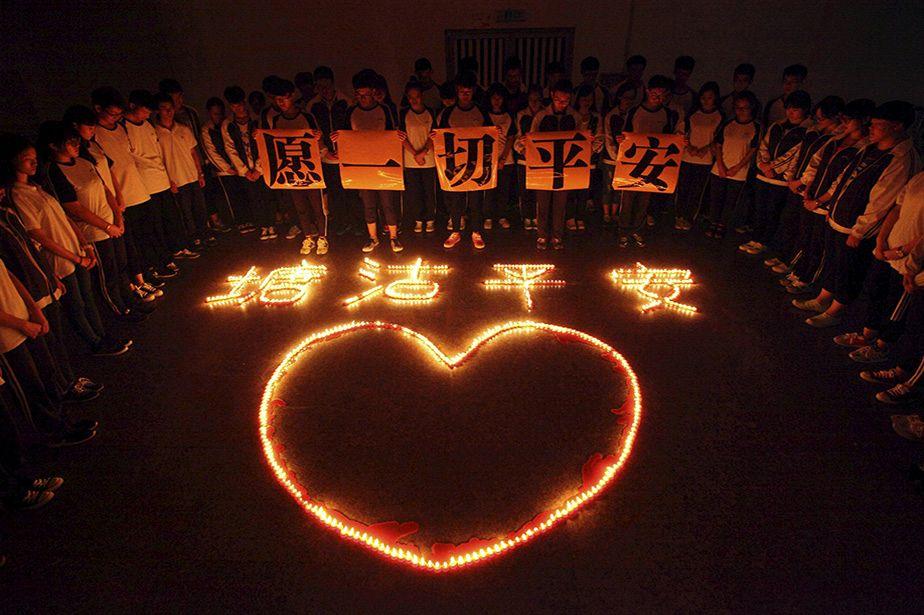 Hommage aux victimes de la catastrophe de Tianjing