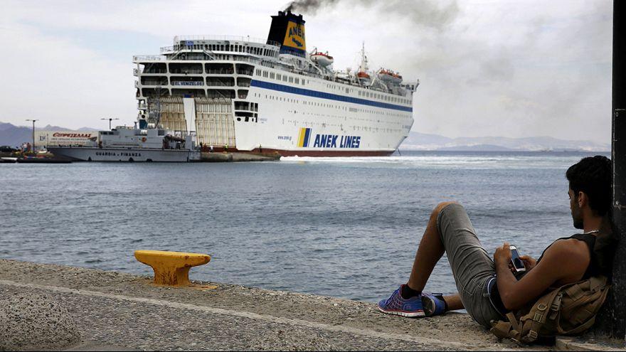 Греция: паром для беженцев