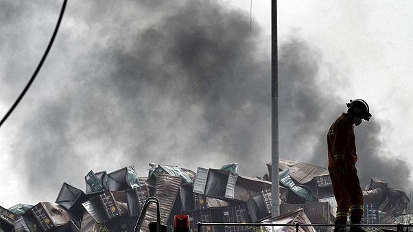 آمار قربانیان دو انفجار مهیب در شهر تیانجین در چین افزایش یافت