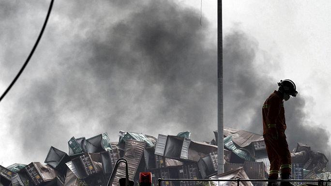 Tiencsinben mindenkit evakuálnak a robbanás körzetében