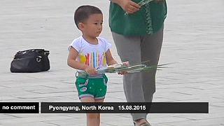 Kuzey Kore'nin başkenti Pyongyang'da II. Dünya Savaşı'nın bitişi