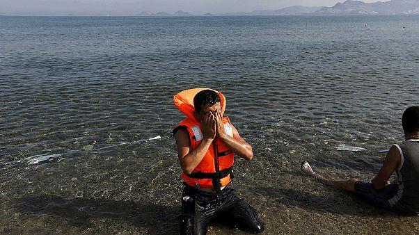 Sur l'île grecque de Kos, l'afflux des migrants