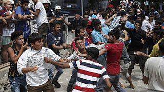 Confrontos entre migrantes na ilha grega de Kos