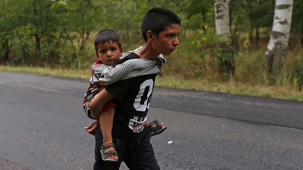 Migrantes na travessia dos Balcãs