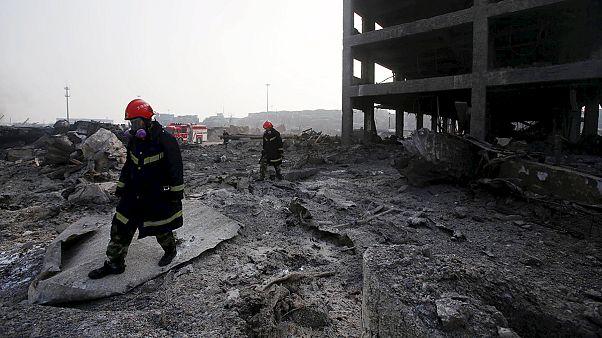 الصين: ارتفاع حصيلة ضحايا مستودع الكيماويات إلى 112 قتيل
