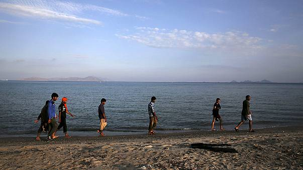 السفية اليونانية تبدأ تسجيل اللاجئين السوريين في جزيرة كوس