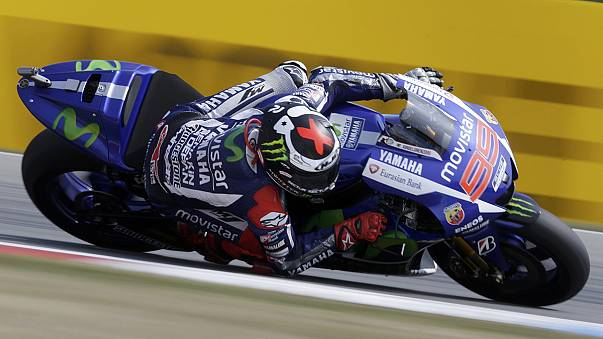 Lorenzo wins in Brno to join Rossi at top of MotoGP standings