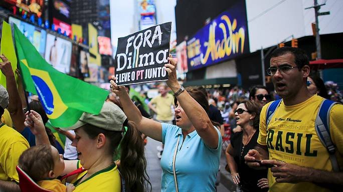 """Dilma out!"" Tens of thousands call for impeachment of Brazilian president"