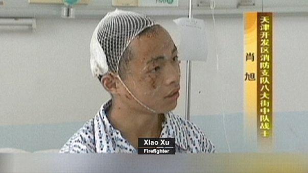 """""""C'était comme l'enfer"""" à Tianjin raconte un jeune pompier"""