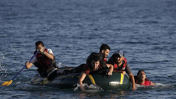 Tired but delighted: more migrants wash up in Kos